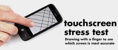 Smartphone touchscreen test